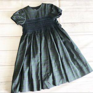 Caroline Zapf green plaid dress
